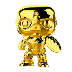 Marvel Studios 10th Anniversary - Captain America Gold Chrome Pop Vinyl