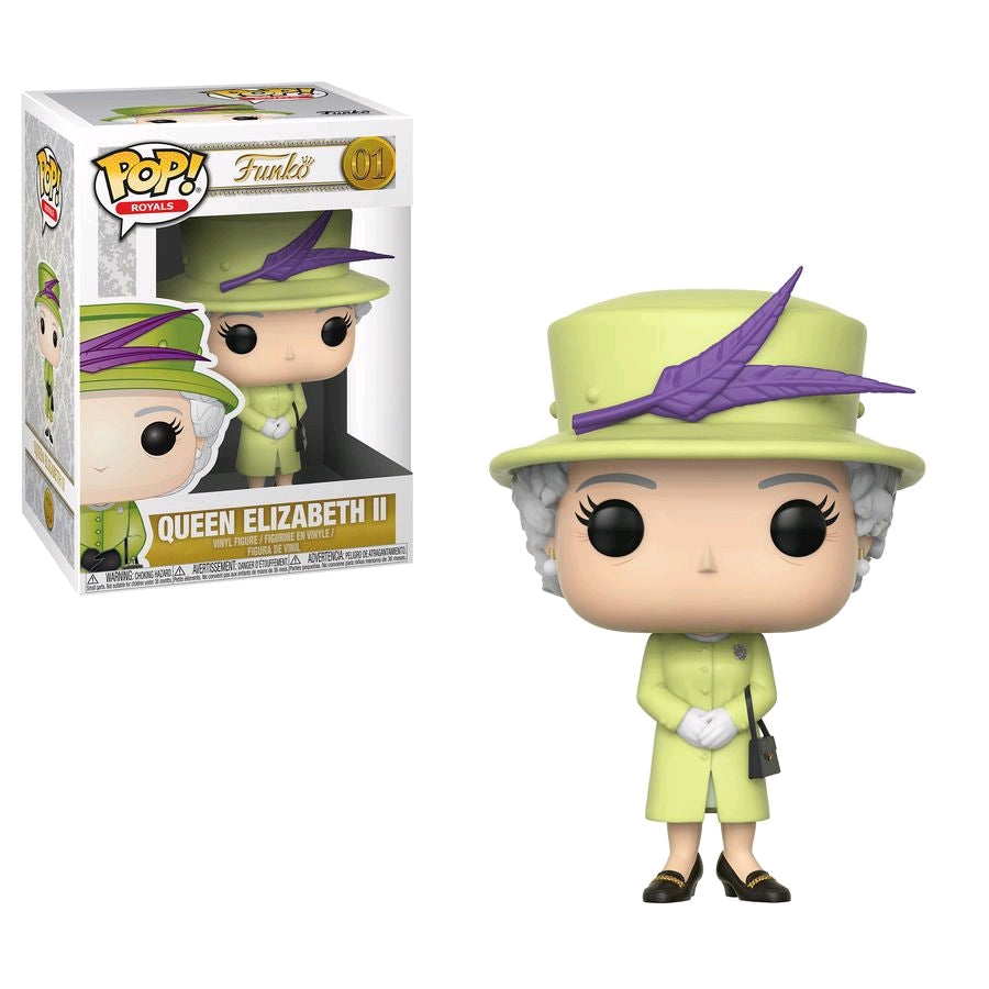 Royal Family - Queen Elizabeth II Green Dress Pop Vinyl