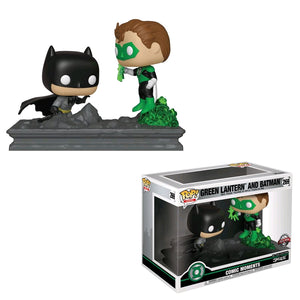 Green Lantern - Green Lantern And Batman Jim Lee US Exclusive Comic Moment Pop! Vinyl
