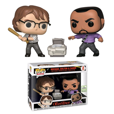 ECCC19: Office Space -Michael Bolton And Samir Pop! Vinyl 2 Pack