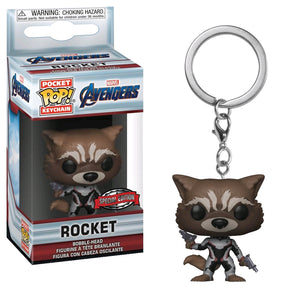 Avengers 4 Endgame- Rocket (Team Suit) Pop Vinyl! Keychain