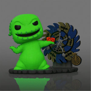 The Nightmare Before Christmas - Oogie Boogie with Spinwheel Neon US Exclusive Pop! Deluxe [RS]