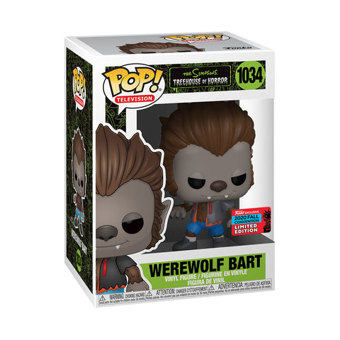 Image of The Simpsons - Bart Werewolf NYCC 2020 US Exclusive Pop! Vinyl