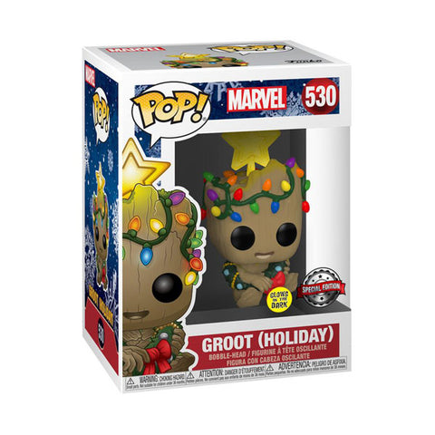 Guardians of the Galaxy - Groot Christmas Glow Holiday US Exclusive Pop! Vinyl