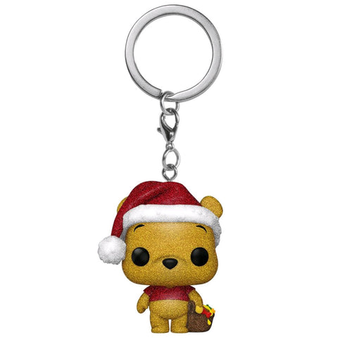 Winnie the Pooh - Winnie the Pooh Diamond Glitter Holiday US Exclusive Pocket Pop! Keychain [RS]