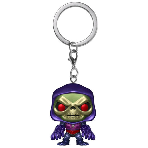 Image of Masters of the Universe - Skeletor w/Terror Claws Metallic US Exclusive Pocket Pop! Keychain