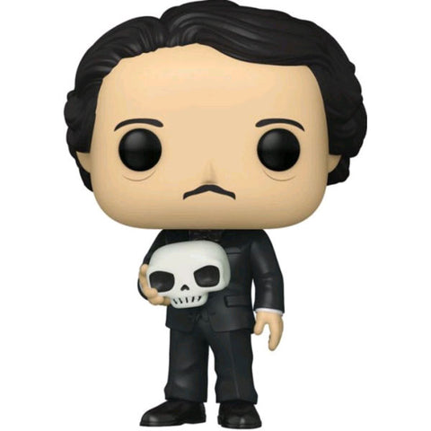 Icons - Edgar Allen Poe with Skull Glow US Exclusive Pop! Vinyl