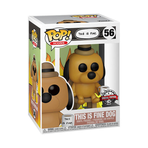 Icons - This Is Fine Dog US Exclusive Pop! Vinyl