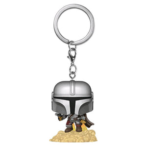 Star Wars: The Mandalorian - Mandalorian with Blaster Pocket Pop! Keychain