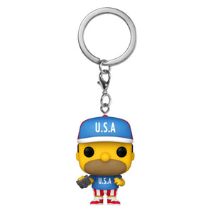 The Simpsons - Homer USA Pocket Pop! Keychain