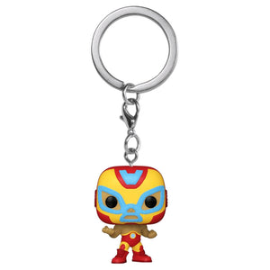 Iron Man - Luchadore Iron Man Pocket Pop! Keychain