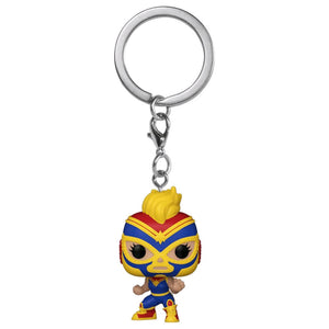 Captain Marvel - Luchadore Captain Marvel Pocket Pop! Keychain