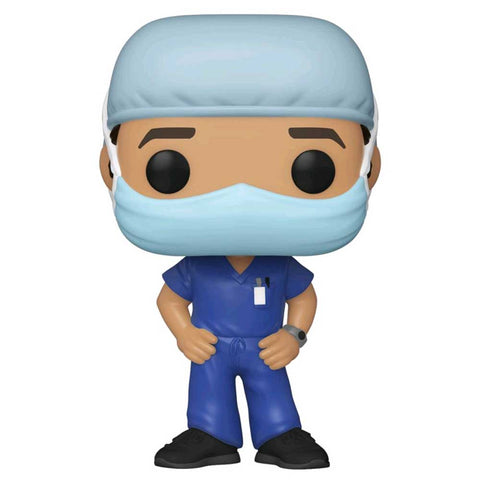 Pop! Heroes - Front Line Worker Male #1 Purple Pop! Vinyl