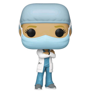 Pop! Heroes - Front Line Worker Female #1 Blue Pop! Vinyl