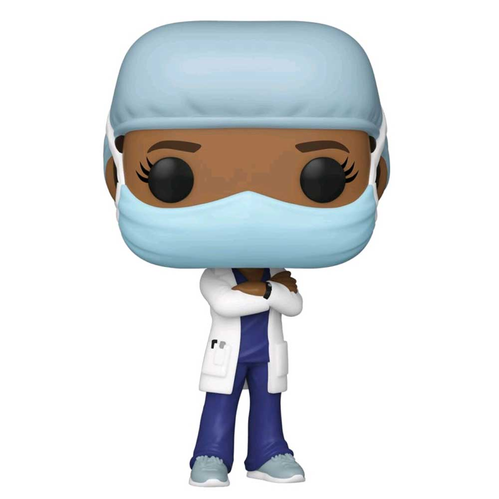 Pop! Heroes - Front Line Worker Female #2 Purple Pop! Vinyl