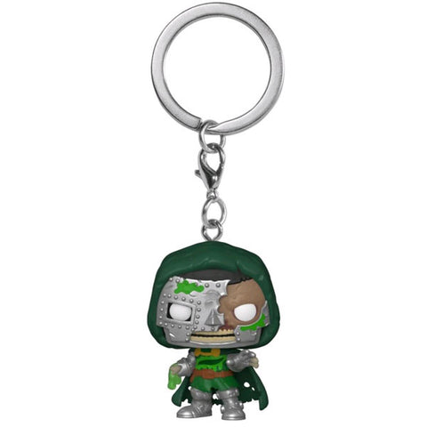Image of Marvel Zombies - Dr Doom Pocket Pop! Keychain