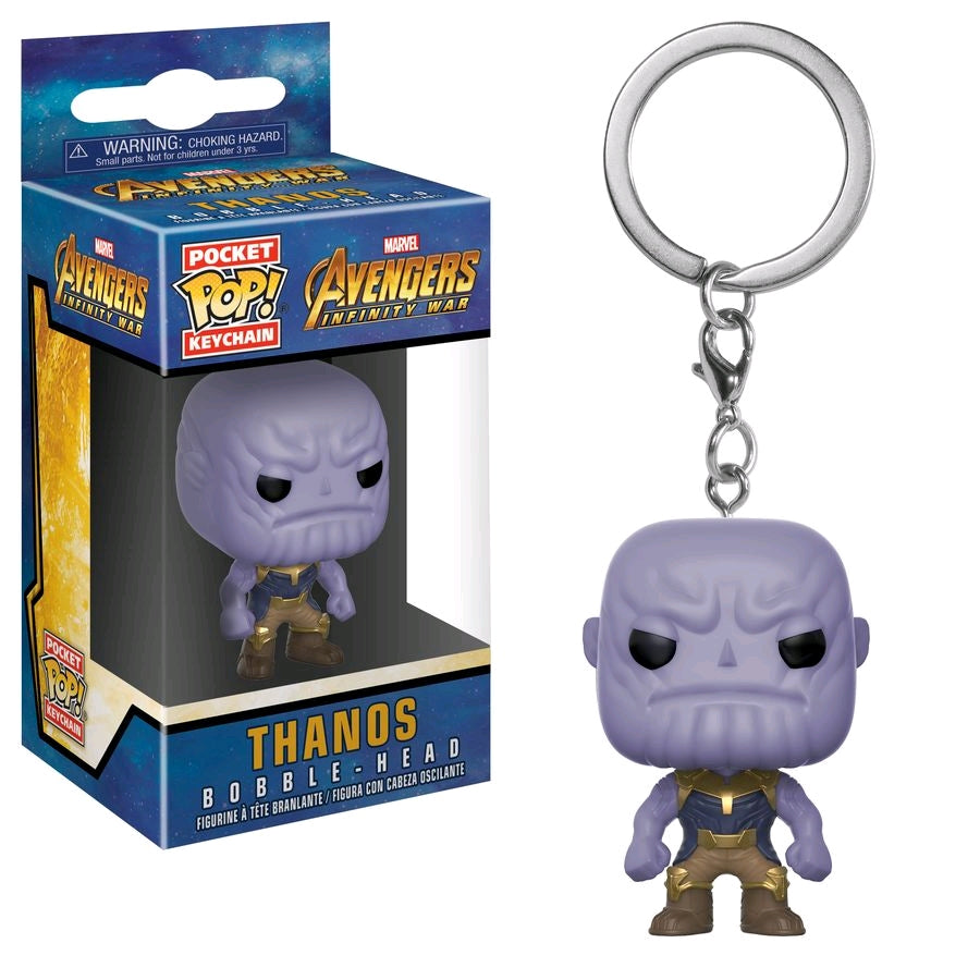 Avengers Infinity War Thanos Pocket Pop Vinyl Keychain