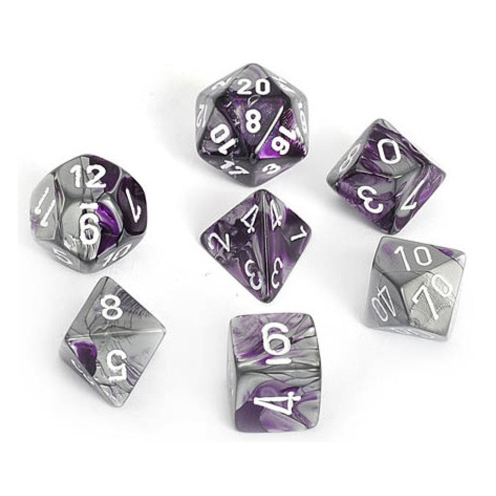 Gemini Purple-steelw/white 7-Die Set