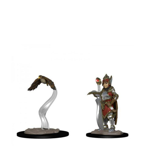 Image of Wardlings - Girl Fighter & Hunting Falcon Pre-Painted Minis