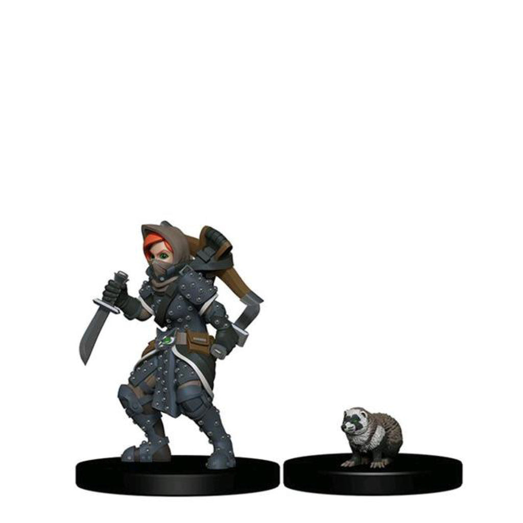 Wardlings - Girl Rogue & Badger Pre-Painted Minis