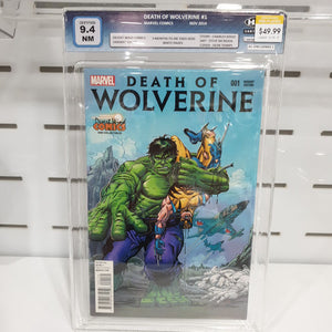 Death Of Wolverine #1 Desert Wind Comics Graded 9.4