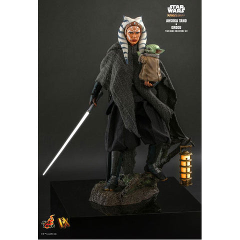"Image of Star Wars: The Mandalorian - Ahsoka Tano and Grogu 1:6 Scale 12"" Action Figure Set"