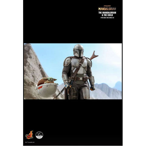 Image of Star Wars: The Mandalorian - Mandalorian & The Child 1:4 Scale Action Figure Set