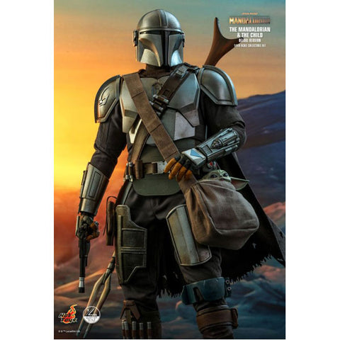 Star Wars: The Mandalorian - Mandalorian & The Child Deluxe 1:4 Scale Action Figure Set