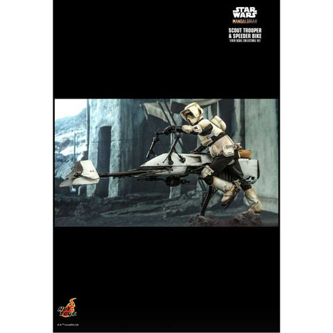 Star Wars: The Mandalorian - Scout Trooper & Speeder Bike 1:6 Scale Action Figure Set