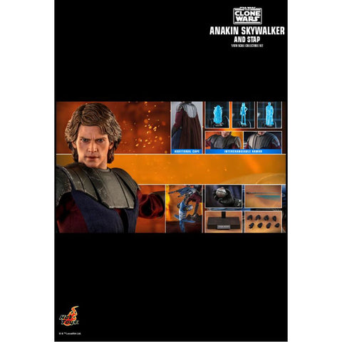"Image of Star Wars: Clone Wars - Anakin & STAP 1:6 Scale 12"" Action Figure Set"