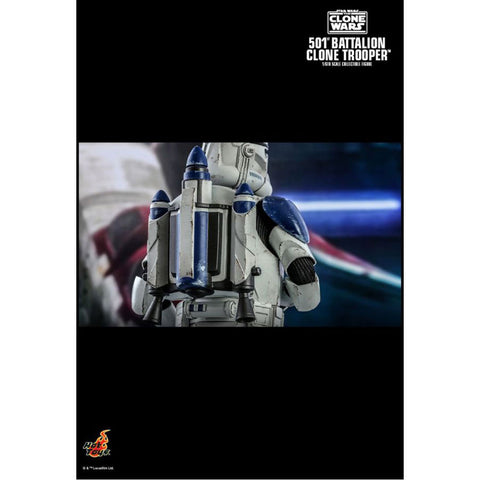 "Image of Star Wars: The Clone Wars - 501st Battalion Clone Trooper 1:6 Scale 12"" Action Figure"