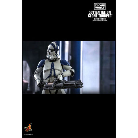 "Image of Star Wars: The Clone Wars - 501st Battalion Clone Trooper Deluxe 1:6 Scale 12"" Action Figure"