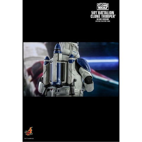 "Star Wars: The Clone Wars - 501st Battalion Clone Trooper Deluxe 1:6 Scale 12"" Action Figure"