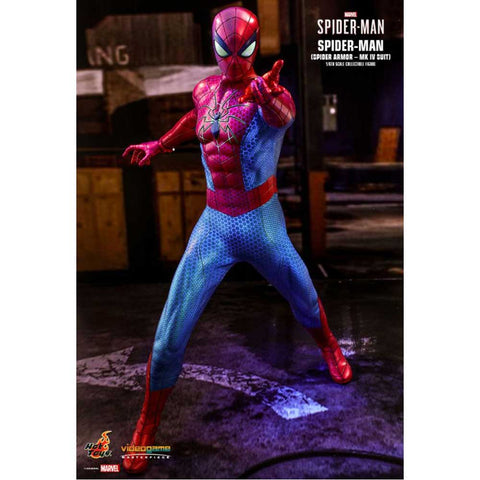 "Image of SpiderMan (Video Game 2019) - Spider Armor Mark IV 1:6 Scale 12"" Action Figure"