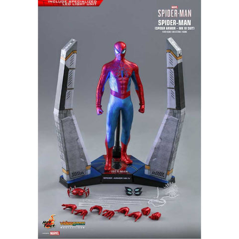 "SpiderMan (Video Game 2019) - Spider Armor Mark IV 1:6 Scale 12"" Action Figure"