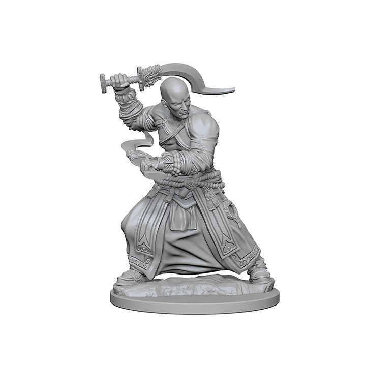 Pathfinder Deep Cuts Unpainted Minis Human Male Monk