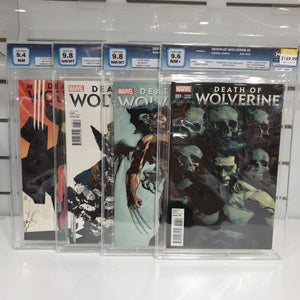 Death Of Wolverine Set Of 4 Retailer Incentive Graded 9.6