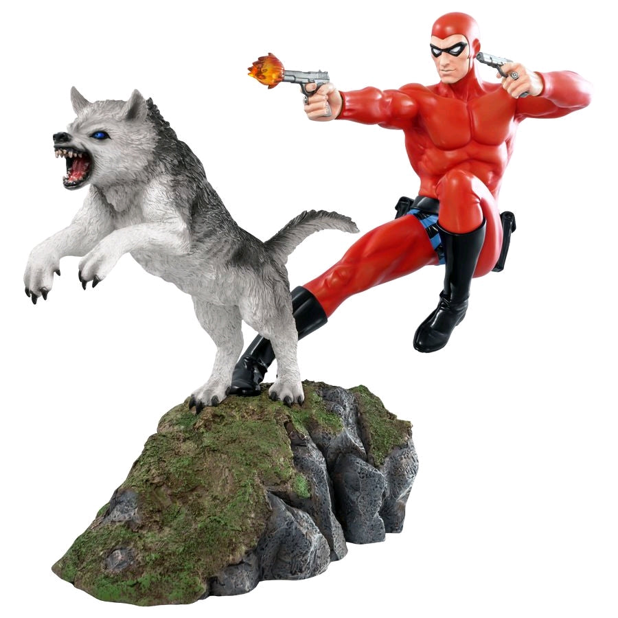 The Phantom - Phantom and Devil Red Suit Statue