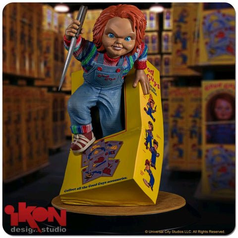 Child's Play - Chucky Breaking Free From Box PVC Statue