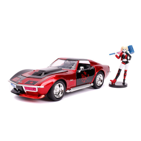 1/24 Harley Quinn 1969 Corvette Stingray Hollywood Rides