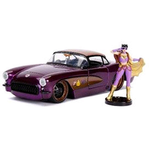 Image of DC Bombshells - Batgirl 1957 Chevy Corvette 1:24 Scale Hollywood Rides Diecast Vehicle