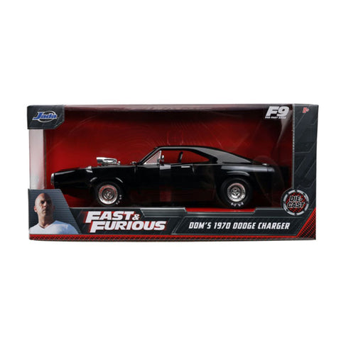 Fast and Furious 9 - 1970 Dodge Charger Black 1:24 Scale Hollywood Ride