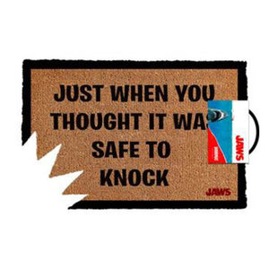 Jaws- Safe To Knock Doormat