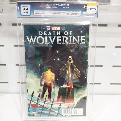 Death Of Wolverine #1 Mile High Comics Graded 9.4