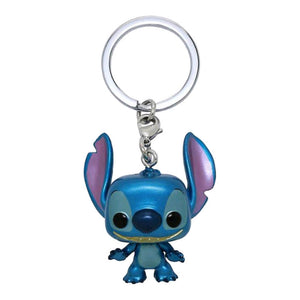 Lilo & Stitch - Stitch Metallic US Exclusive Pocket Pop! Keychain [RS]