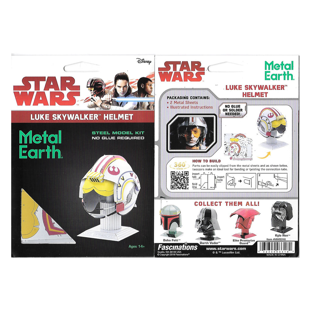 Metal Earth Star Wars Luke Skywalker Helmet