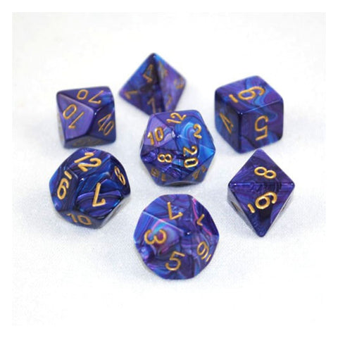 Lustrous Purple/gold 7-Die Set
