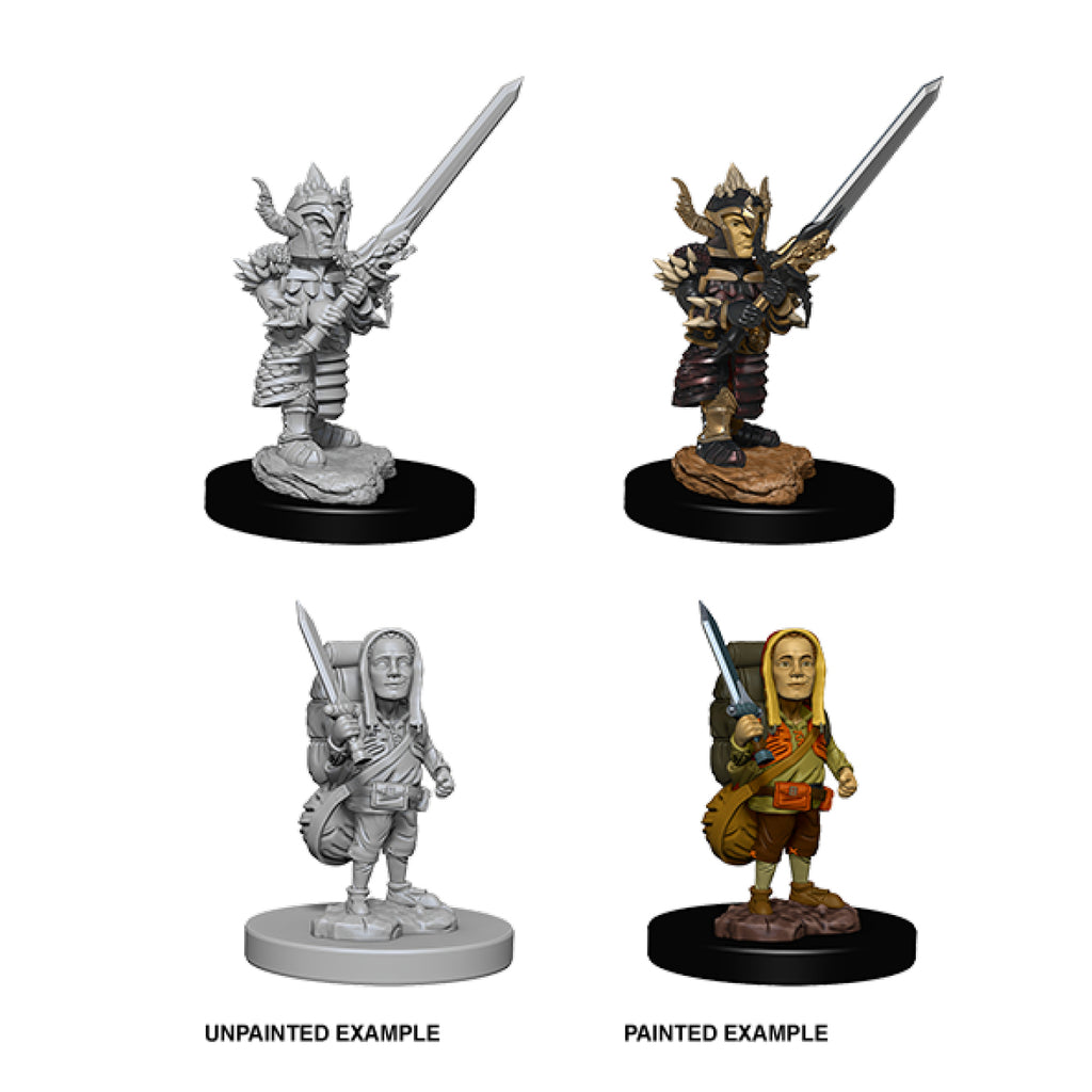 Dungeons & Dragons - Nolzur's Marvelous Unpainted Minis: Halfling Male Fighter