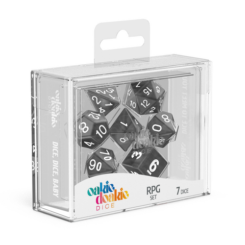 Oakie Doakie Dice RPG Solid Marble Black