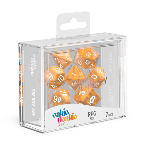Oakie Doakie Dice RPG Solid Marble Orange